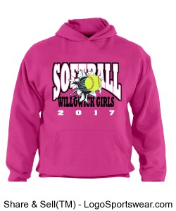 Softball Hoodie Design Zoom