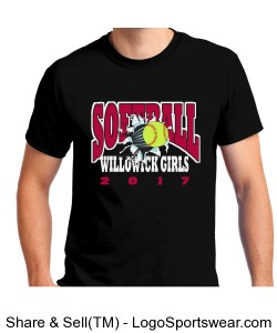 Softball T-Shirt 2017 Design Zoom